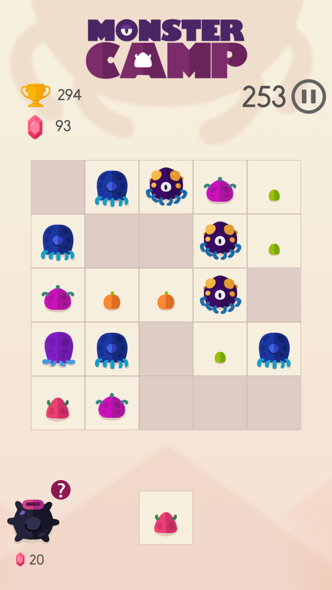 Monster Camp 1.0 launched for iOS/Android - Innovative Puzzle Match Game Image