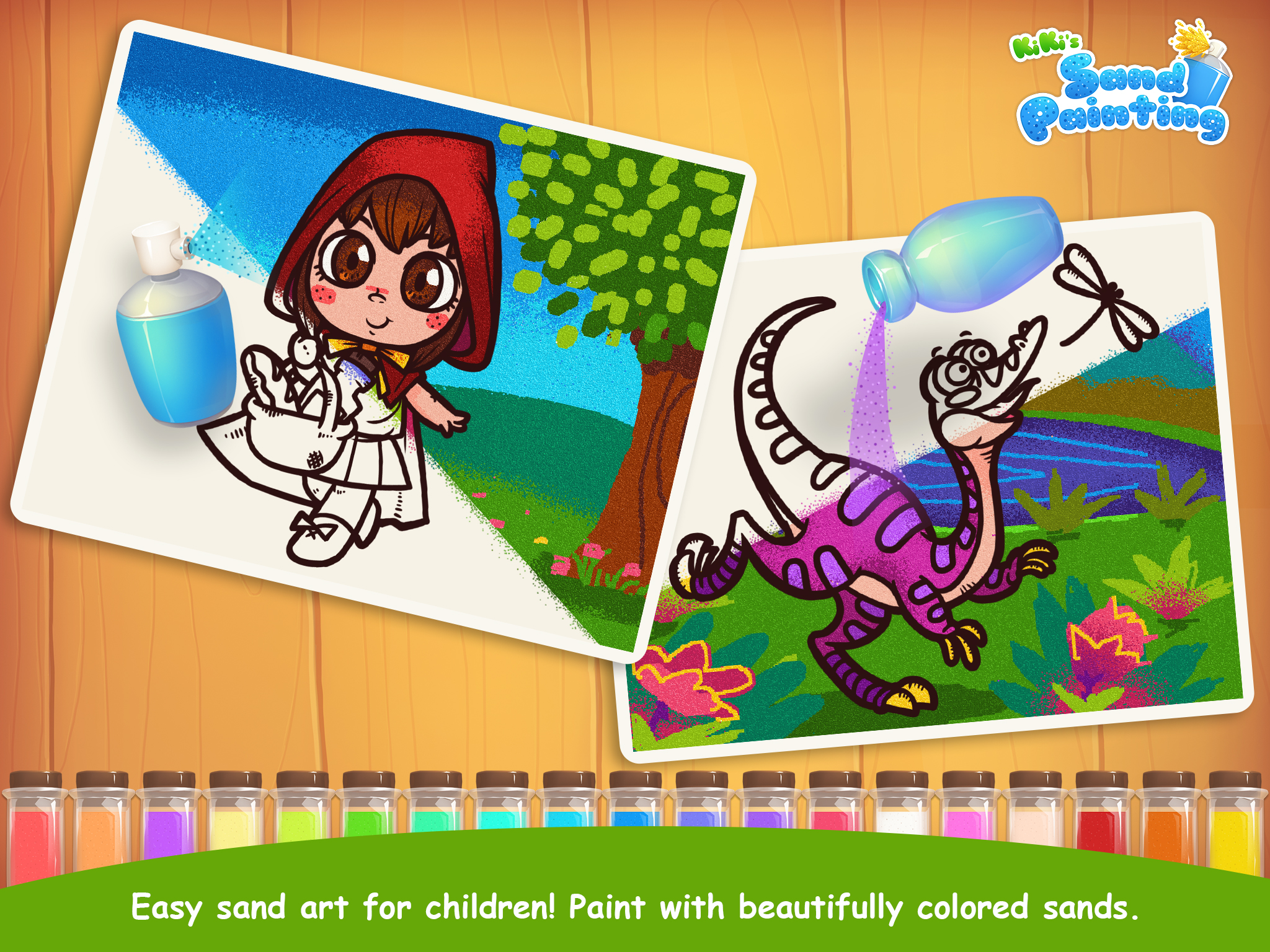 KiKi's Sand Painting Released Free Version 1.0 - Kid's Sand Art on iPad Image